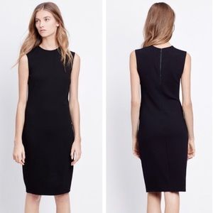 Vince Black Sleeveless Ponte Casual Dress